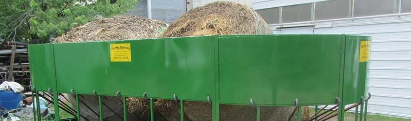 Storing round hay bales: the effects of rain and humidity