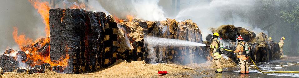 hay fire